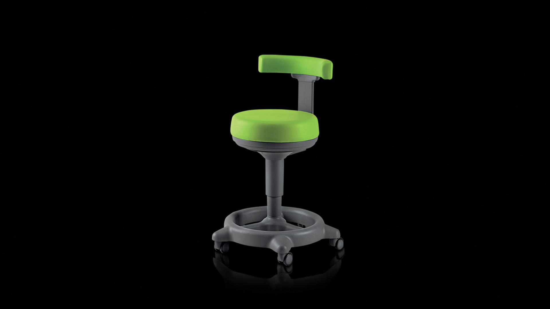seggiolino verde - green stool